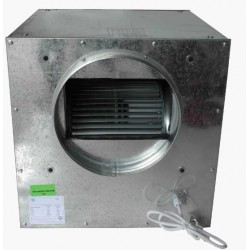 Metalen kist met Air Fan slakkenhuis 250m3