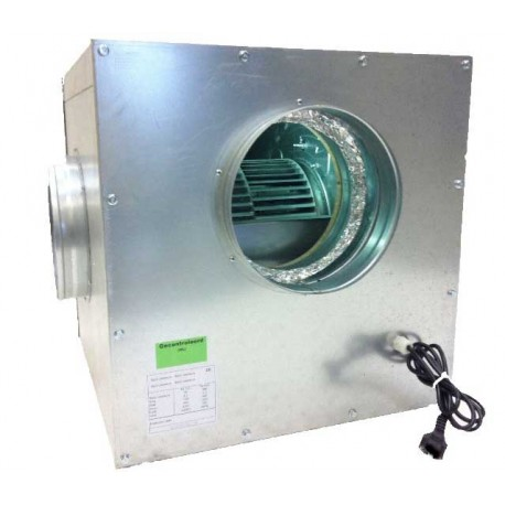 Metalen Softbox met Air Fan slakkenhuis 250m3