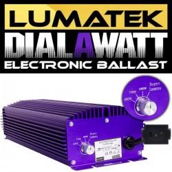 Lumatek 600 of 1000 Watt 230-400V met dimmer en superlumen compleet bekabeld